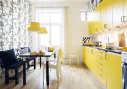 armarios coloridos para cozinhas 1