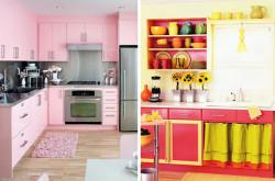 armarios coloridos para cozinhas 2