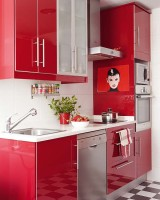 armarios coloridos para cozinhas  6