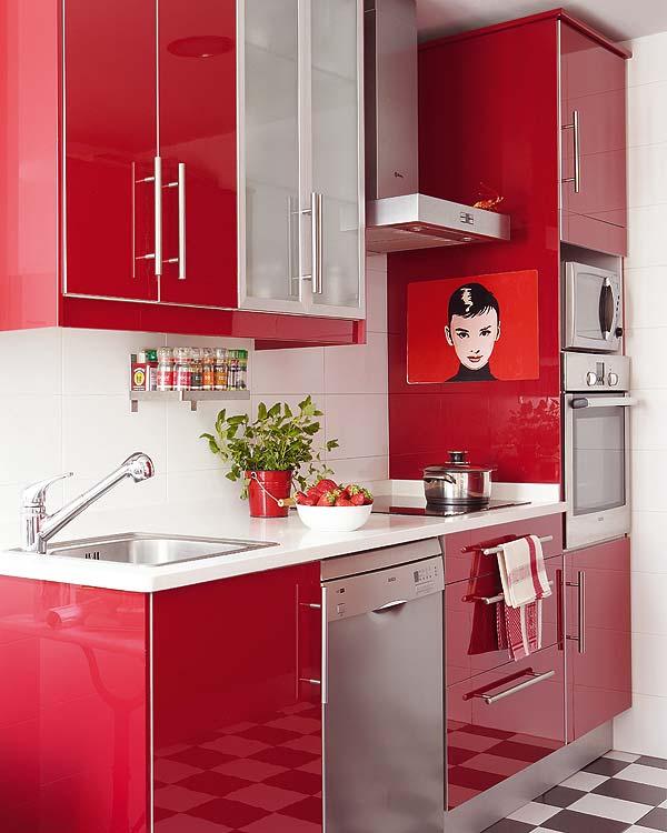 Kitchen Ideas Red: Fotos De Armários Coloridos Para Cozinhas E Dicas De