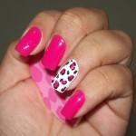 unhas decoradas cor de rosa 2